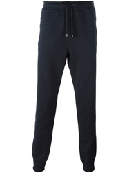 Dolce And Gabbana Embroidered Crown Track Pants Blue