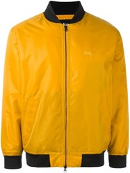 Stussy Zipped Bomber Jacket Yellow Orange