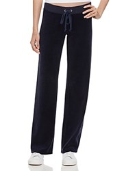 Juicy Couture Black Label Original Flare Velour Pants In Aubergine 100 Bloomingdale's Exclusive Regal Navy