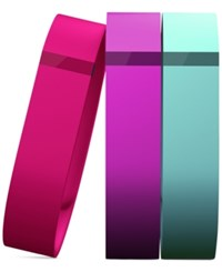 Fitbit Flex Wristband Accessory 3 Pack Violet Pink Teal