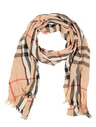 Burberry Wrinkled Classic Check Printed Scarf