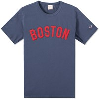 Champion Reverse Weave Usa Tee Blue