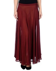 Cristina Bomba Long Skirts Maroon