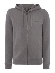 Michael Kors Fleece Lined Zip Through Hoodie Grey