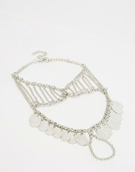 Glamorous Coin Foot Harness Silver