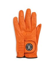 G Fore Leather Gloves Orange Blue