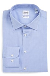 Armani Collezioni Men's Big And Tall Modern Fit Stretch Check Dress Shirt Blue Blue