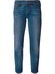 Koral Stone Washed Cropped Jeans Blue