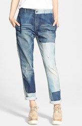 Women's Stella Mccartney 'The Patchwork' Boyfriend Jeans