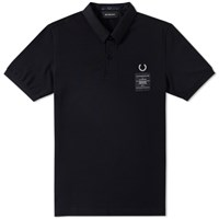 Fred Perry X Art Comes First Woven Collar Polo Black