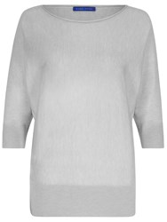 Winser London Merino Silk And Cashmere Dolman Sleeve Jumper Grey