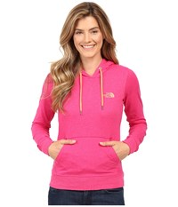 The North Face Lite Weight Pullover Hoodie Cabaret Pink Heather Feather Orange Women's Sweatshirt
