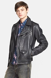 Marc By Marc Jacobs 'Martin' Leather Moto Jacket Black