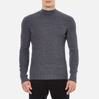 Hugo Men's Smud Ribbed Jumper Grey