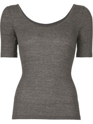 Arts And Science Scoop Neck T Shirt Grey