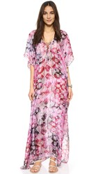 Lotta Stensson Kite Batik Laced Up Caftan Plum
