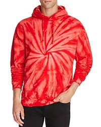 Ovadia And Sons Tie Dye Pullover Hoodie Red