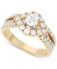 Macy's Diamond Engagement Ring 1 1 2 Ct. T.W. In 14K Gold Yellow Gold