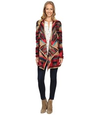 Lucky Brand Aztec Drape Front Sweater Multi Combo Women's Sweater