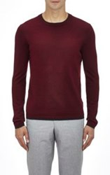 Barneys New York Layered Sweater Red