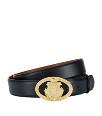 Billionaire Crest Buckle Belt Unisex Black