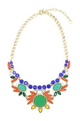 Eye Candy Los Angeles Aztec Flower Necklace Multi
