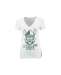 Royce Apparel Inc Women's Cleveland State Vikings Charlie T Shirt White