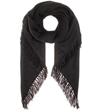 Isabel Marant Zila Cashmere And Wool Scarf Black