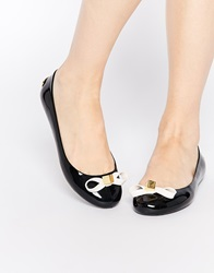 Ted Baker Jiro Jelly Black Ballerina Flat Shoes Blackcream