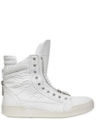 Dsquared Python Effect Leather High Top Sneakers