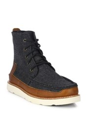 Toms Lace Up Ankle Boots Grey
