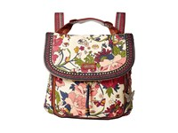 Sakroots Artist Circle Convertible Backpack Cream Flower Power Backpack Bags Multi