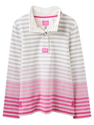 Joules Classic Ombre Stripe Jersey Top Pink Ombre