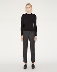 Junya Watanabe Wool Twill Trousers Charcoal Gray