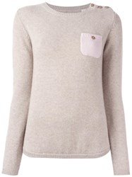 Chinti And Parker One Pocket Jumper Nude Neutrals