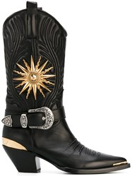Fausto Puglisi Cowboy Boots Black
