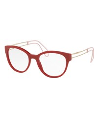 Miu Miu Open Inset Rounded Cat Eye Optical Frames Red