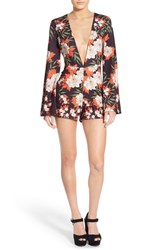 Women's Missguided Floral Plunge Romper