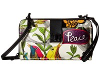 Sakroots Artist Circle Large Smartphone Crossbody Optic Peace Clutch Handbags Multi