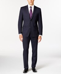Andrew Marc New York Marc New York By Andrew Marc Slim Fit Navy Mini Stripe Suit