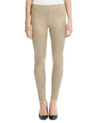 Karen Kane Faux Leather Leggings Beige