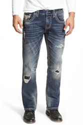 Rock Revival 'Joel' Straight Leg Jeans Medium Blue