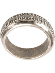 Tobias Wistisen Quote Ring Metallic