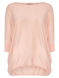 Phase Eight Linen Becca Batwing Jumper Pastel Pink