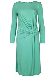 Armani Collezioni Aqua Twisted Jersey Dress Light Green