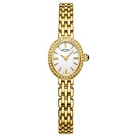 Rotary Women's Cocktail Bracelet Strap Watch Gold White