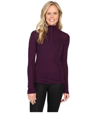 Icebreaker Everyday Long Sleeve Zip Vino Women's Clothing Burgundy