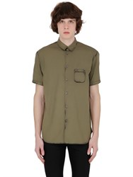N 21 Washed Short Sleeve Cotton Poplin Shirt