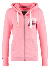 Superdry Trackandfield Tracksuit Top Neon Pink Marl