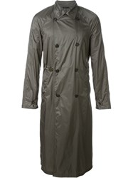 Jil Sander Long Trench Coat Grey